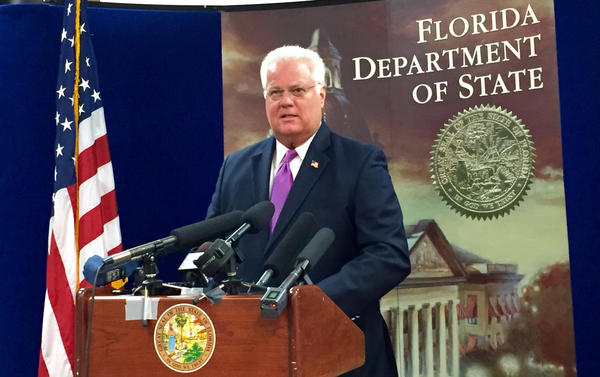 Florida Secretary of State Ken Detzner said he's been advised by the U.S. Department of Homeland Security, the FBI and the Florida Department of Law Enforcement that they had no information backing Nelson's claim.