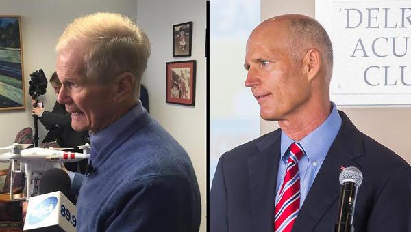 Sen. Bill Nelson (R-Fla.) and Gov. Rick Scott (D-Fla.)