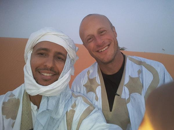 Former Guantanamo guard Steve Wood, right, flew to Mauritania this spring to visit Mohamedou Ould Slahi — the detainee he once spent his days guarding. Slahi was released from Guantanamo in 2016.