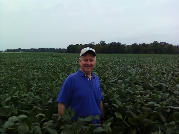 Butch Calhoun, seen here in his soybean fields, takes over as head of the Arkansas State Plant Board on Monday, Aug. 13, 2018.