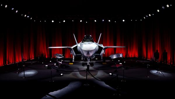 An F-35 jet stands on display in Forth Worth, Texas, in June. At the ceremony, held at a Lockheed Martin facility, Turkey took possession of a pair of the highly advanced fighter jets, which they will train with in Arizona for roughly a year.