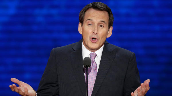 Former Minnesota Gov. Tim Pawlenty addresses the Republican National Convention in Tampa, Fla., in 2012.