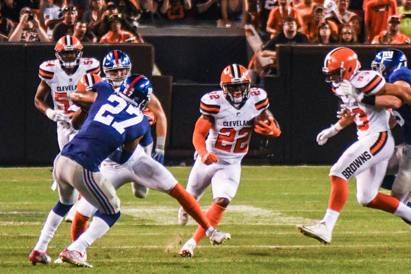 The Cleveland Browns beat the New York Giants in the first preseason game last week.