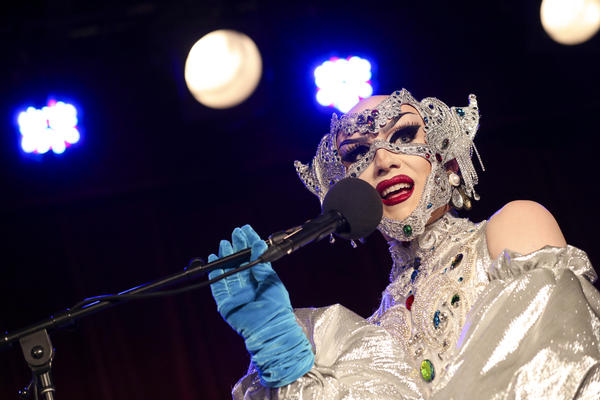 Sasha Velour appears on Ask Me Another at the Bell House in Brooklyn, New York