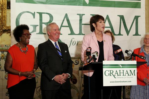 Tampa Mayor Bob Buckhorn's endorsement comes as 18 counties have already started early voting.