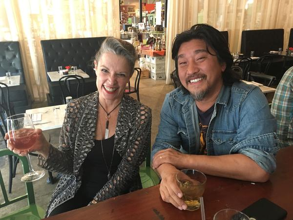 Poppy Tooker with Chef Edward Lee