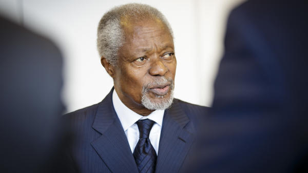 "Kofi Annan was awarded the Nobel Peace Prize jointly with the United Nations in 2001 ""for their work for a better organized and more peaceful world."""