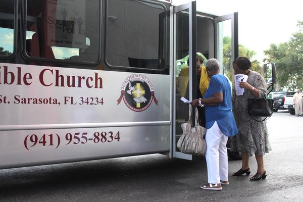 Bethlehem Bible Church became Soul Central on Monday as seven African American churches in North Sarasota participated in the city's first-ever 'Souls to the Polls.'