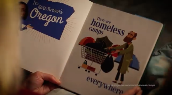 """<p>Priority Oregon posted an ad titled """"Scary"""" onits Facebook page on Aug. 17, 2018.</p>"""