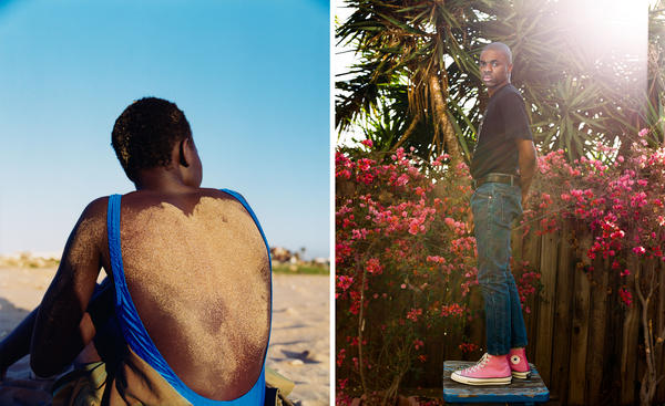 (Left) An image from a fashion spread in <em>More or Less</em> magazine; (right) Vince Staples was photographed for <em>Dazed</em>.