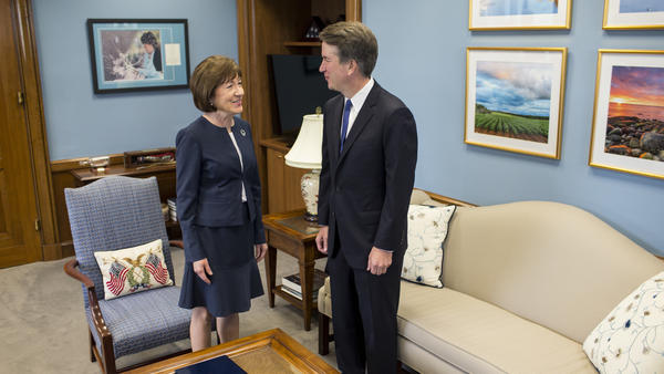 """""""We covered a wide range of issues, and it was very helpful, very productive and very important,"""" Sen. Susan Collins said of her meeting with Supreme Court nominee Brett Kavanaugh on Tuesday."""