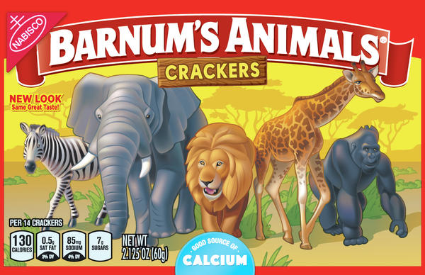 """The new design shows the animals standing shoulder to shoulder, proudly walking in the wild. """"NEW LOOK, Same Great Taste!"""" the package says."""