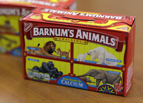 After more than a century behind bars like this box, the beasts on boxes of animal crackers are roaming free.