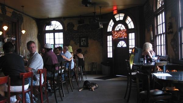 Bar with floor dog