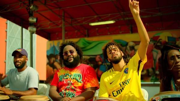 "A clip from Bas' ""Tribe"" video featuring J. Cole."