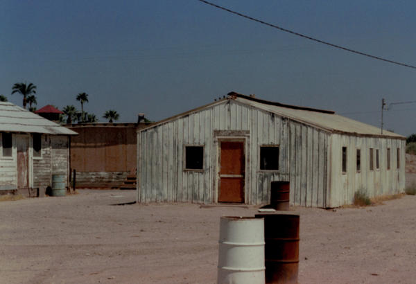 An exterior view of the barracks where Carter and his classmates lived for the summer, pictured in 1992. Carter says even in 1965, the housing was dilapidated. The University High crew worked six days a week, with Sundays off, and they<strong> </strong>were not allowed to return home during their stint.