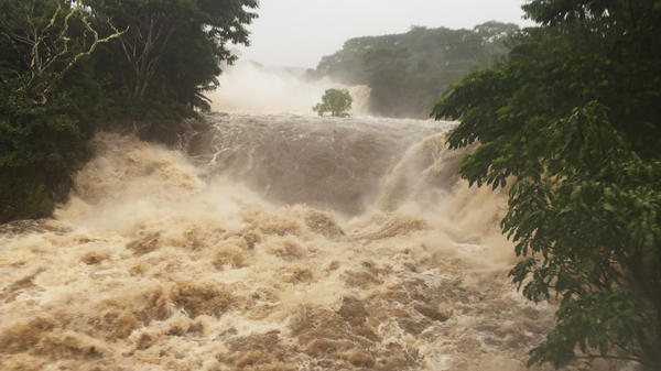 The Wailuku River near Hilo, Hawaii on Thursday.