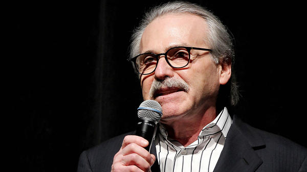 David Pecker, chairman and CEO of American Media, addresses a party in 2014. Reports say he has been granted immunity in the Michael Cohen case.