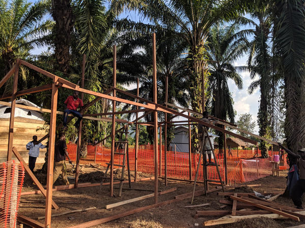 Construction continues on the Ebola treatment unit.