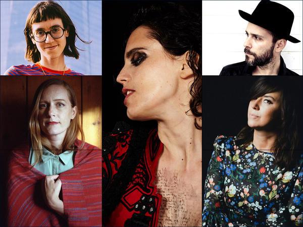 Clockwise from upper left: Gabby's World, Anna Calvi, Greg Laswell, Cat Power, Laura Gibson