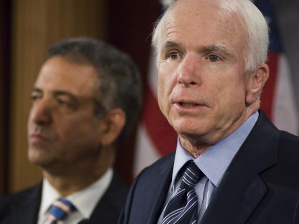 John McCain and Democrat Russ Feingold of Wisconsin co-sponsored a bill that became known as McCain-Feingold.