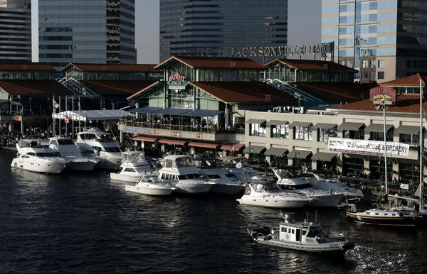 The local sheriff reported a mass shooting at The Jacksonville Landing complex in downtown Jacksonville.