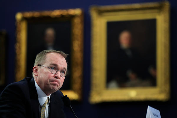Office of Management and Budget Director Mick Mulvaney testifies before a House Appropriations Committee hearing on Capitol Hill in Washington. Mulvaney took over the CFPB as acting director in late November.