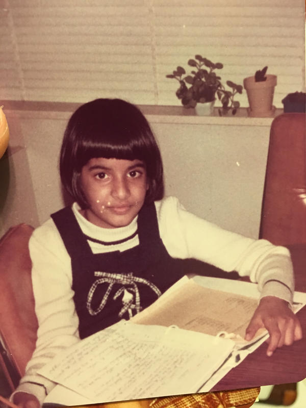 "Cheetie Kumar at age nine growing up as a self-declared ""nerdy"" kid in the Bronx."