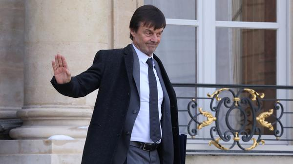"Nicolas Hulot, the French environmental minister, departs a weekly Cabinet meeting in Paris in February. ""I don't want to give the illusion that my presence in government means we're answering these issues properly,"" Hulot said in resigning Tuesday."