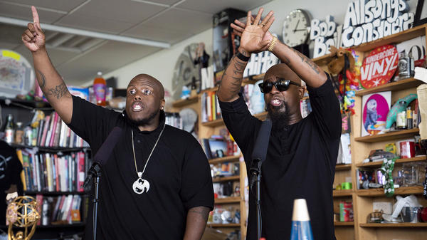 Tech N9ne and Krizz Kaliko perform a Tiny Desk concert on June 29, 2018.