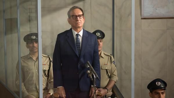 Adolf Eichmann (Ben Kingsley) models the banality of evil in the historical drama <em>Operation Finale.</em>