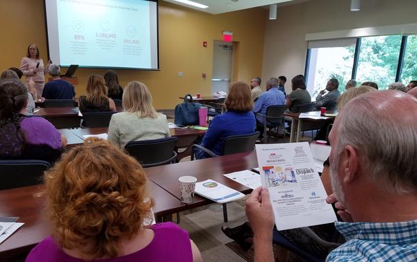 Department of Medicaid Director Barbara Sears (upper left) discusses a study released last week about the effectiveness of Ohio's Medicaid expansion.