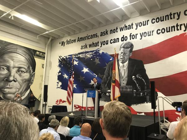 In his concession speech, Philip Levine urged supporters to back Andrew Gillum in the 2018 Florida governor's race.