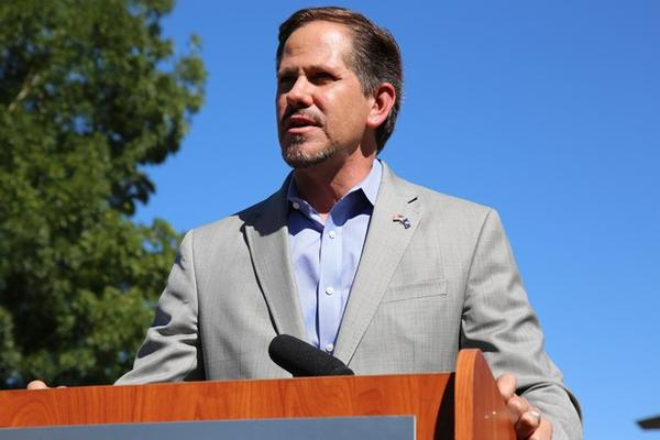 <p>Republican candidate for Oregon Governor Knute Buehler speaks about his plans for health care at press conference in Bend on Wednesday, July 18, 2018.</p>