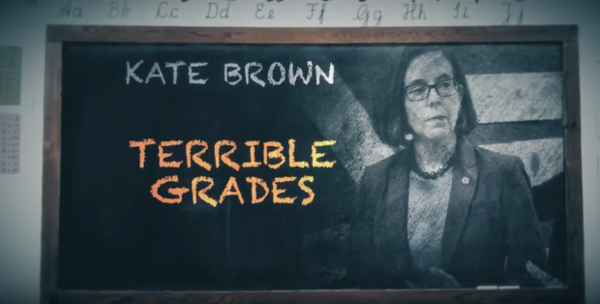 <p>Aspot from State Solutions calls Gov. Kate Brown's record on education into question.</p>
