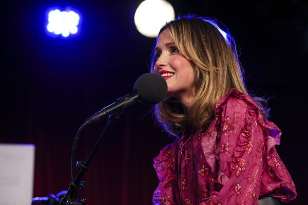 Rose Byrne appears on Ask Me Another at the Bell House in Brooklyn, New York.