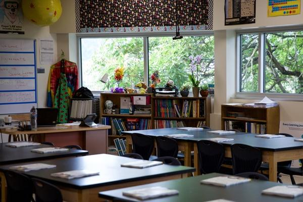 <p>An updated classroom at Tubman Middle School in Portland.</p>