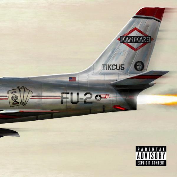 The artwork for Eminem's <em>Kamikaze</em>.