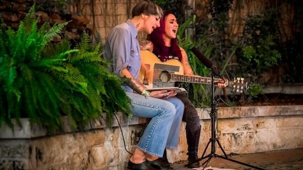 Y La Bamba's Luz Elena Mendoza and Nina Diaz perform during SXSW.