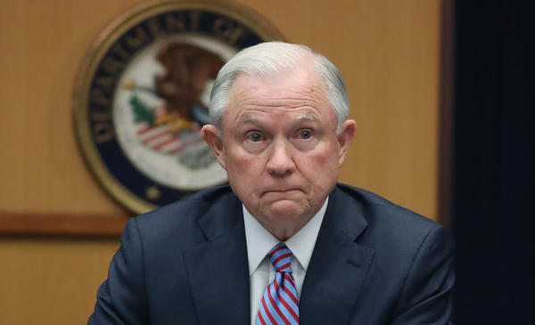 Attorney General Jeff Sessions is testifying before the Senate Intelligence Committee on Tuesday afternoon.