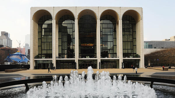 New York's Metropolitan Opera House in Manhattan. Famed conductor James Levine, its music director emeritus and former conductor, was suspended by the company while allegations of sexual misconduct are investigated.