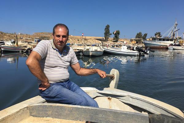 """We are fishing plastic,"" says Lebanese fisherman Emilio Eid."
