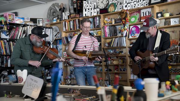 VÄSEN performs a Tiny Desk Concert on March 5, 2018 (Eslah Attar/NPR).