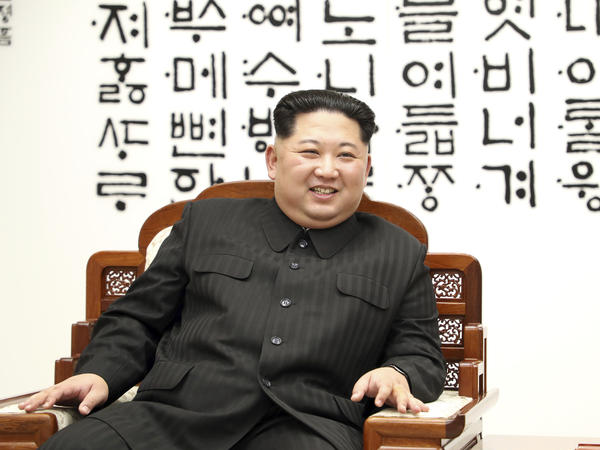 North Korean leader Kim Jong Un is seen at Peace House of the border village of Panmunjom in the Demilitarized Zone on April 27.