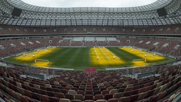 """FIFA accuses ticket reseller Viagogo of unfair competition and """"opaque and deceptive business conduct."""" Here, the view from seats inside the Luzhniki Stadium in Moscow, where the 2018 World Cup will kick off on June 14."""
