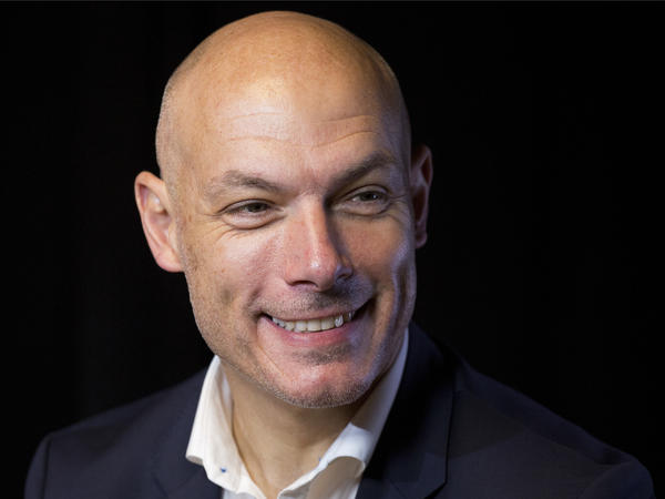 Howard Webb, general manager of the Professional Referee Organization, talks during an interview, Wednesday, May 16, 2018, in New York. The former Premier League referee worked at the 2010 and 2014 World Cups, including 2010 World Cup final.