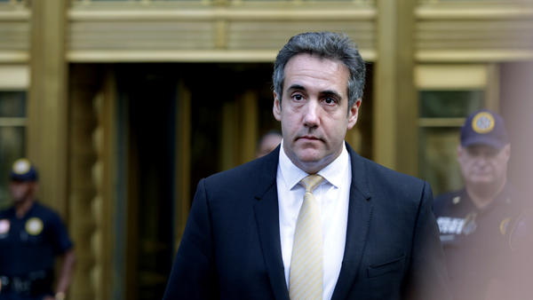 Michael Cohen, former lawyer to President Trump, leaves the federal courthouse Tuesday in New York City.