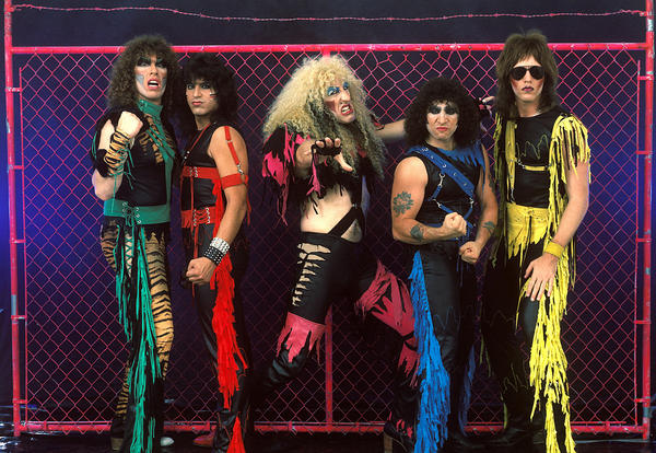 Dee Snider (center) with the rest of Twisted Sister in 1984.