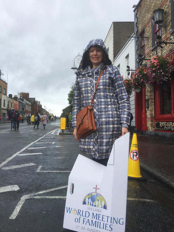 "Sarah O'Rourke, a primary school religion teacher, didn't tell some acquaintances she was attending the pope's Mass in Dublin on Sunday. ""It wasn't a popular thing to say,"" she said."