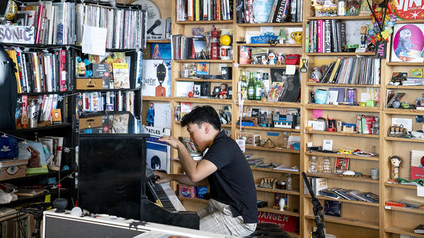 George Li performs a Tiny Desk Concert on July 31, 2018 (Eric Lee/NPR).